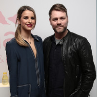 "Brian McFadden is ""delighted"" Vogue Williams is expecting with Spencer Matthews"