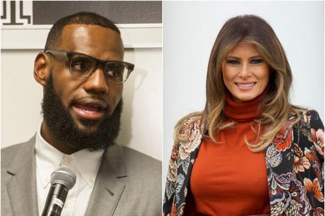 LeBron James and Melania Trump