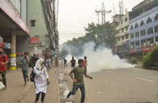 Tear gas fired at Bangladesh protesters during huge protest over teen deaths