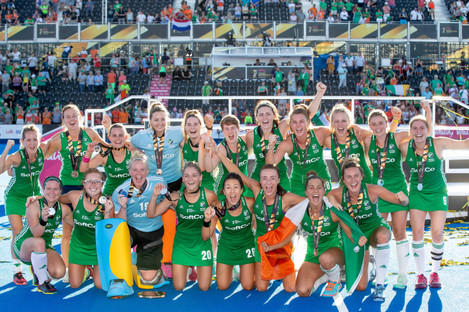 Ireland won World Cup in silver on Sunday afternoon.