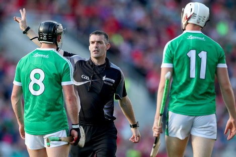 James Owens was in charge of the game between Limerick and Cork in June.