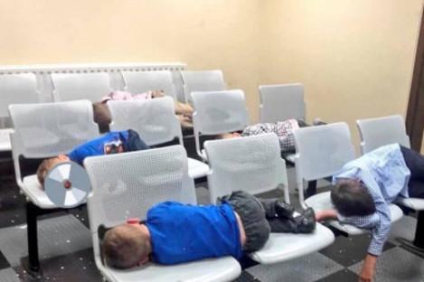 The children who slept in Tallaght Garda Station last night.