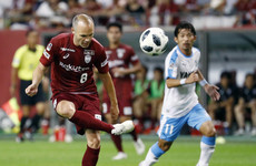 Class is permanent! Andres Iniesta's first goal in Japan is a beauty