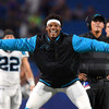Cam Newton had a tense pre-match reunion with former team-mate who criticised him