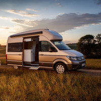 The new Volkswagen Grand California campervan has a shower and a rear sleeping area