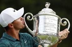 Brilliant Koepka holds Tiger at bay to win PGA Championship at Bellerive