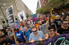 US far-right rally drowned out by hundreds of counter-protesters