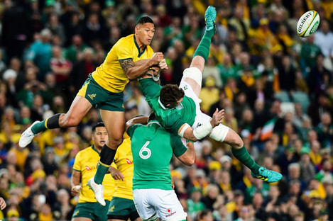 Israel Folau was punished following the incident in June.