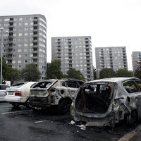 Masked vandals torch dozens of cars in Sweden in attack arranged on social media