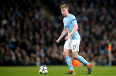 Major blow for Man City as club confirms De Bruyne will miss three months