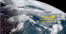 Storm Ernesto is on the way - and will bring some Californian wildfire smoke with it