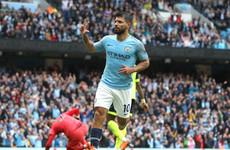 Aguero nets 13th Man City hat-trick as champions smash six past dismal Huddersfield