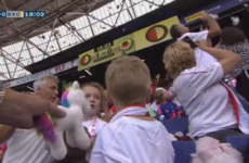 Feyenoord invite children's hospital patients to game, away fans shower them with cuddly toys
