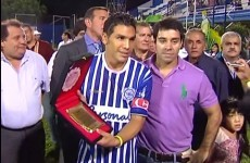 Paraguayan footballer makes his competitive return two years after being shot in the head