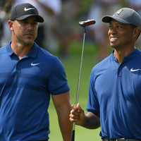 Koepka 'in shock a little bit' that Woods stayed to congratulate him at US PGA