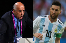 Palestinian FA boss gets 12-month Fifa ban for 'inciting hatred and violence' with Messi comments