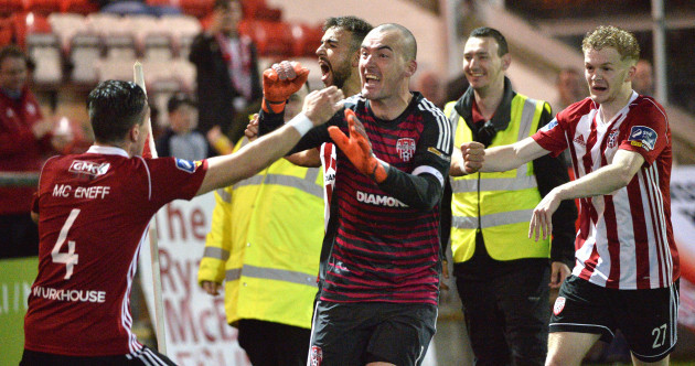 Derry City advance as hero Doherty makes 95th-minute penalty save
