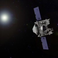 A Nasa spacecraft that will land on an asteroid and take a sample has just glimpsed its target