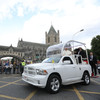 'That was a bit too fast': Popemobile travels through Dublin with unanticipated haste