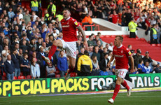 Daryl Murphy scores 87th minute equaliser as Nottingham Forest fight back to claim point