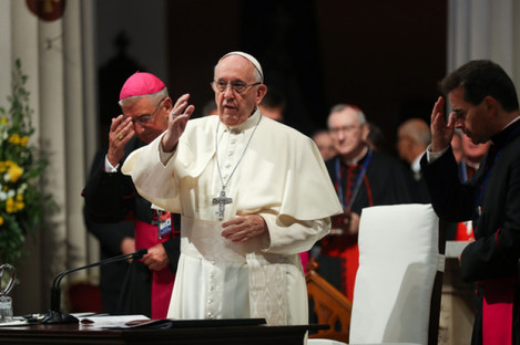 Pope Francis at the Pro Cathedral