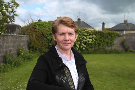 Catherine Corless at the site of the mother and baby home in Tuam