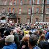 'Stand For Truth' crowd marched in silence to remember abuse survivors as Papal Mass took place
