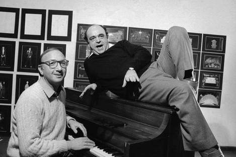 Playwright Neil Simon, left, and actor James Coco.
