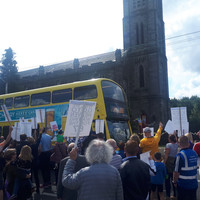 Plans for dramatic cut to bus services in Dublin village has locals on the streets