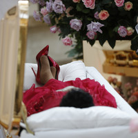 'Queen of Soul' Aretha Franklin is being laid to rest in a ruby-red pair of heels