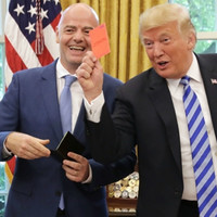 Trump gives media red card after meeting Fifa boss Infantino