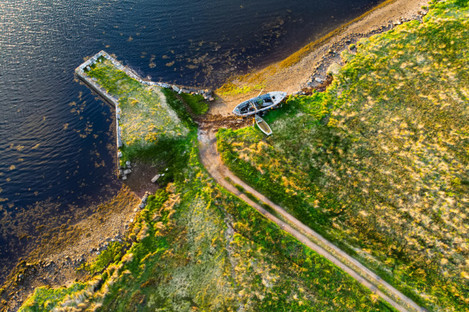 An aerial view of a spot on the Iveragh Peninsula