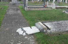 Photos: Up to 30 headstones vandalised in Dublin cemetery