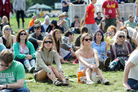 Festival-goers at Electric Picnic