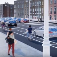 Residents worried about 'high-speed cyclists' on parking protected cycle lanes in Dublin city