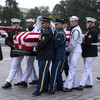 'America was always great': McCain memorial tributes echo with criticism of Trump
