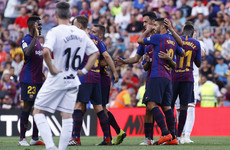 Messi and Suarez on the double as Barcelona hit La Liga new boys for eight