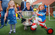 Dublin's four-in-a-row All-Ireland champions visit children's hospitals with Sam Maguire