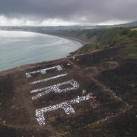 Volunteers have restored Bray Head's huge WWII 'Eire' sign