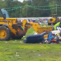 Thousands of tents left behind at Electric Picnic campsite cleared by bulldozers