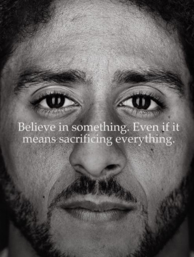 First American football player to kneel for the national anthem chosen for new Nike campaign