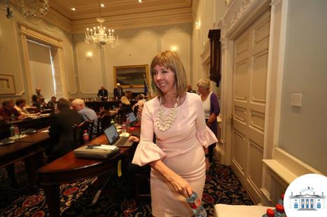 Irish Presidential hopeful Senator Joan Freeman