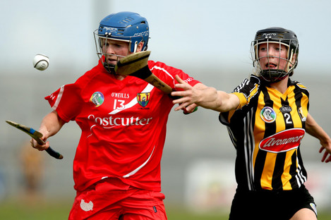 Briege Corkery in action in the 2015 semi-final for Cork against Kilkenny.