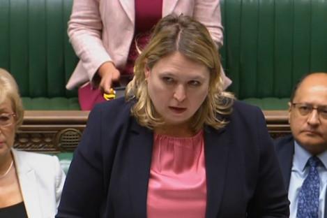 Karen Bradley speaking in the House of Commons yesterday.