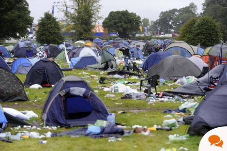 The Electric Picnic aftermath in 2010.