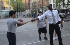 Wanna see NBA superstar Dwyane Wade playing a pickup game with some kids?