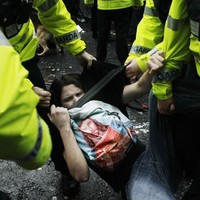 In Pictures: Riots at Dublin's student march