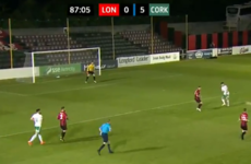 Watch: Kieran Sadlier scores a peach during tasty hat-trick against Longford Town