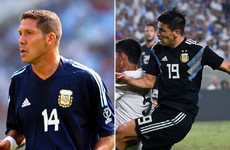 ab83046f310 Diego Simeone s son fulfills prophecy with debut goal for Argentina