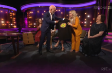 Ray D'Arcy gave Derry Girls' Nicola Coughlan a Den t-shirt for a drawing she did when she was 8